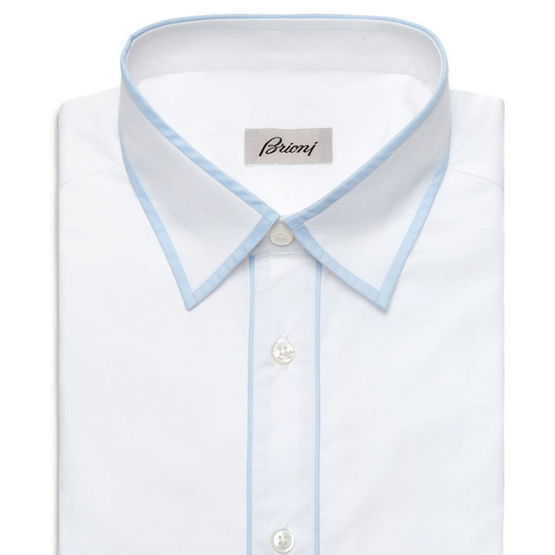 Brioni Shirt With Contrast Edging Spring Summer 2016